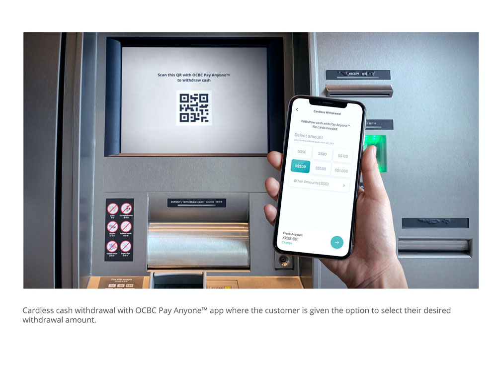 Cardless cash withdrawal with OCBC Pay Anyone™ app