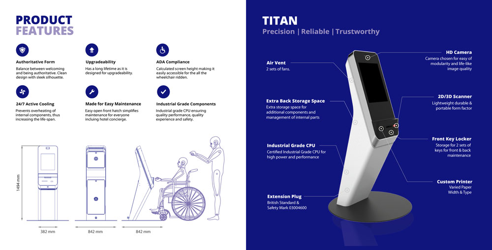 Titan Visitor Management System Kiosk