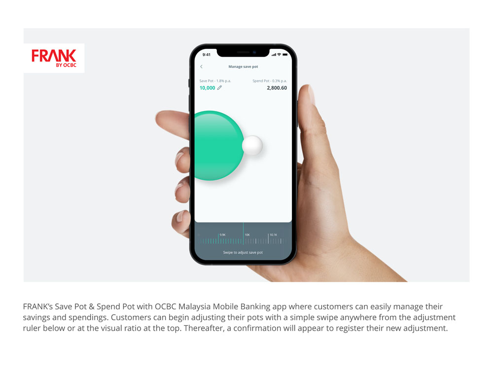 FRANK by OCBC Malaysia – Save and Spend Pot