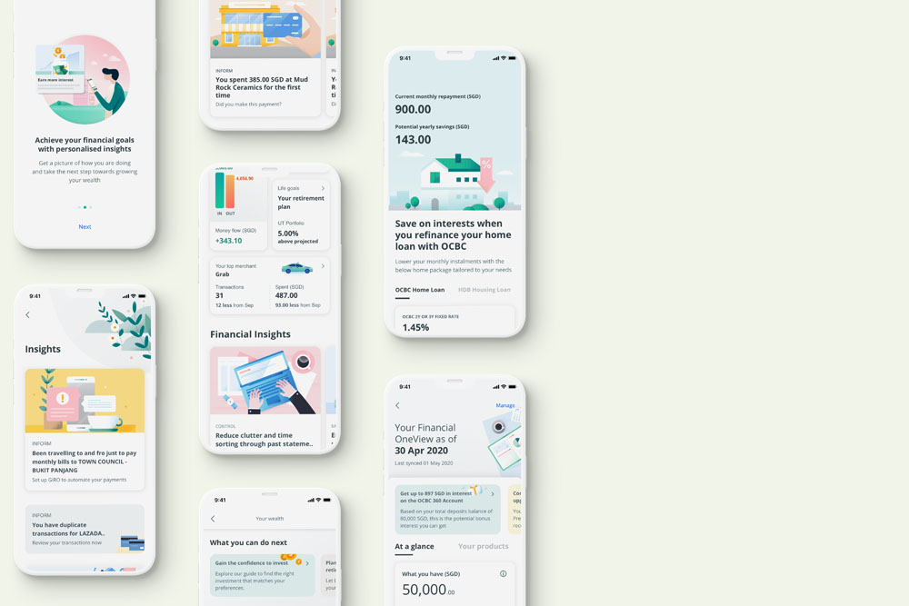 OCBC Mobile Banking Financial Insights