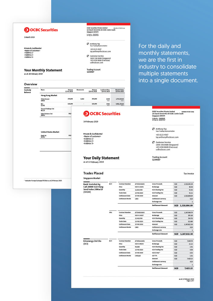 Reinventing the OCBC Securities E-Statements